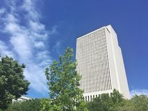 Church of Jesus Christ of Latter Day Saints office building in Salt Lake City Utah stock photo