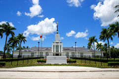 Church of Jesus Christ of Latter-day Saints on Tongatapu island. In Tonga. The Church was established in Tonga in 1891 Royalty Free Stock Photos