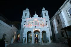 Church of Jesus` first miracle in Cana Royalty Free Stock Photography