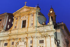 Church of Jesus in Genoa Stock Photos