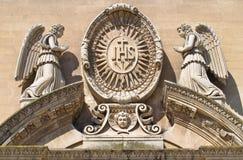 Church of Jesus. Lecce. Puglia. Italy. Royalty Free Stock Image