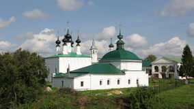 Church of Jesus triumphal entry into Jerusalem, Suzdal stock video