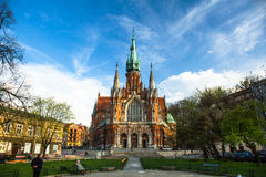 Church Joseph - a historic Roman Catholic church in south-central part of Krakow. Royalty Free Stock Photos