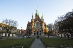 Church Joseph - a historic Roman Catholic church in south-central part of Krakow. Royalty Free Stock Images