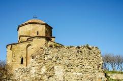 Church of Jvari Monastery in Mtskheta, Georgia. Georgian Orthodo. X monastery. April 2017 Royalty Free Stock Images