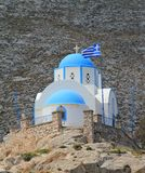 Church at Kamari, Santorini, Greece Stock Photos