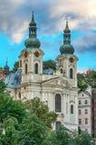 Church in Karlovy Vary Karlsbad. Baroque church of St. Mary Magdalene in Karlovy Vary Karlsbad - Czech Republic Royalty Free Stock Photos
