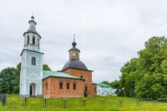 Church of the Kazan Icon of the Mother of God in Hmelita, Vyazma, Smolensk region, Russia. Church at the manor house royalty free stock image