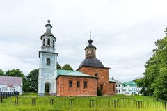 Church of the Kazan Icon of the Mother of God in Hmelita, Vyazma, Smolensk region, Russia. Church at the manor house royalty free stock photography