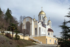Church of Kazan icon Our Lady in Dagomys, Russia Stock Images
