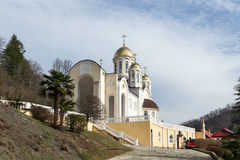 Church of Kazan icon Our Lady in Dagomys, Russia Royalty Free Stock Photography