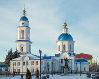 Church of Kazan Mother of God. The temple in honor of Kazan Mother of God in winter Maloyaroslavets Stock Images