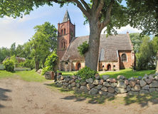 Church in Kemnitz, Mecklenburg-Vorpommern, Germany, a listed monument.  royalty free stock images