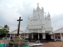 Church in Kerala, India. St. Mary's Jacobite Syrian Cathedral, also known as Manarcad Marth Maryam Cathedral, is a Syrian Orthodox church located near Kottayam Royalty Free Stock Photo