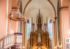Church in Kernave interior. Lithuania Stock Image