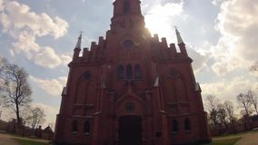 Church Kernave, Lithuania, time-lapse stock video footage