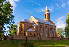 Church in Kernave. At summer. Lithuania Stock Photos