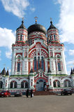 Church in Kiev , Ukraine. Orthodox church on a background blue sky royalty free stock photos