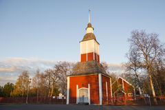 Church in Kiruna. Sweden, during a late summer evening Royalty Free Stock Photos