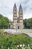 Church in Koblenz, Germany. The Basilica of St. Castor - the oldest church in Koblenz, Germany Royalty Free Stock Image