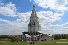 A church in the Kolomensky estate Stock Photography