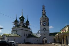 Church in Kostroma. And a blue sky Royalty Free Stock Photo
