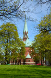 Church in Kotka. Ancient katolichechky church in the city of Kotka, Finland stock images