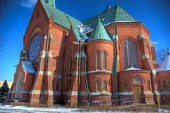 Church of Kotka. The old, neo-gothic church of Kotka Stock Photography