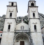 Church in Kotor. Montenegro tower Royalty Free Stock Image