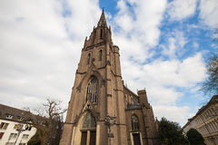 A church in krefeld germany. A plain church in krefeld germany Stock Image