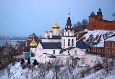 Church and Kremlin in Nizhny Novgorod Stock Photos