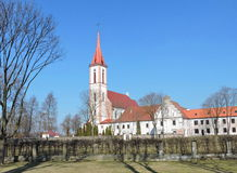 Church in Kretinga, Lithuania. Church of the Annunciation to the Blessed Virgin Mary Kretinga town Royalty Free Stock Images