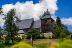 Church in Kryštofovo Údolí royalty free stock photo