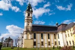 Church in Krzeszow, Poland Stock Images