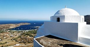 Church on Kythnos island Royalty Free Stock Images