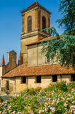 Church in La Bastide-Clairence, France. Stock Photo