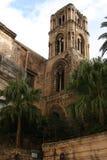 Church:  LA MARTORANA, Bell Tower. Palermo, Sicily. Bell tower of The church La Martorana. Palermo. Sicily. Italy Royalty Free Stock Image