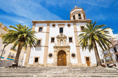 Church la Merced in Ronda, Malaga, Andalusia, Spain. Stock Photos