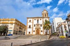 Church of La Merced in Ronda. Malaga province, Andalusia, Spain. Cityscape with church La Merced in Ronda. Malaga province, Andalusia, Spain royalty free stock images