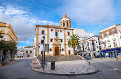 Church of La Merced in Ronda. Malaga province, Andalusia, Spain. Cityscape with church La Merced in Ronda. Malaga province, Andalusia, Spain Stock Photography