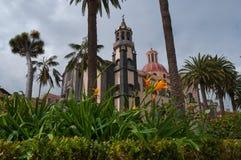 Church in La Orotava. Tenerife, Spain Royalty Free Stock Image