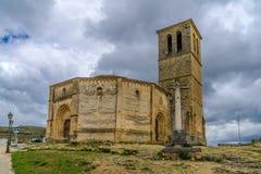Church La Vela Cruz in Segovia. Stock Photo