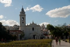 Church of the Lady of Pilar royalty free stock photo