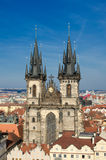 Church of lady before tyn,old town square,Prague Stock Image