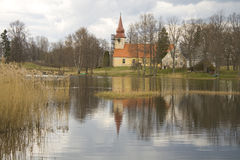 Church on the lake Stock Images