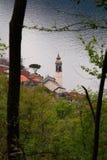 Church on the lake stock photos