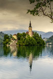 Church of Lake Bled Stock Image