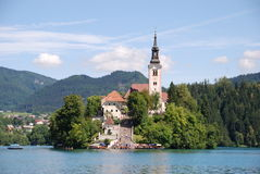 Church in Lake Bled Stock Photos