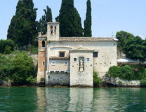 Church on Lake Garda royalty free stock photos