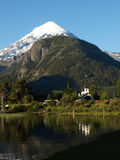 Church by the lake paimun in patagonia Stock Images